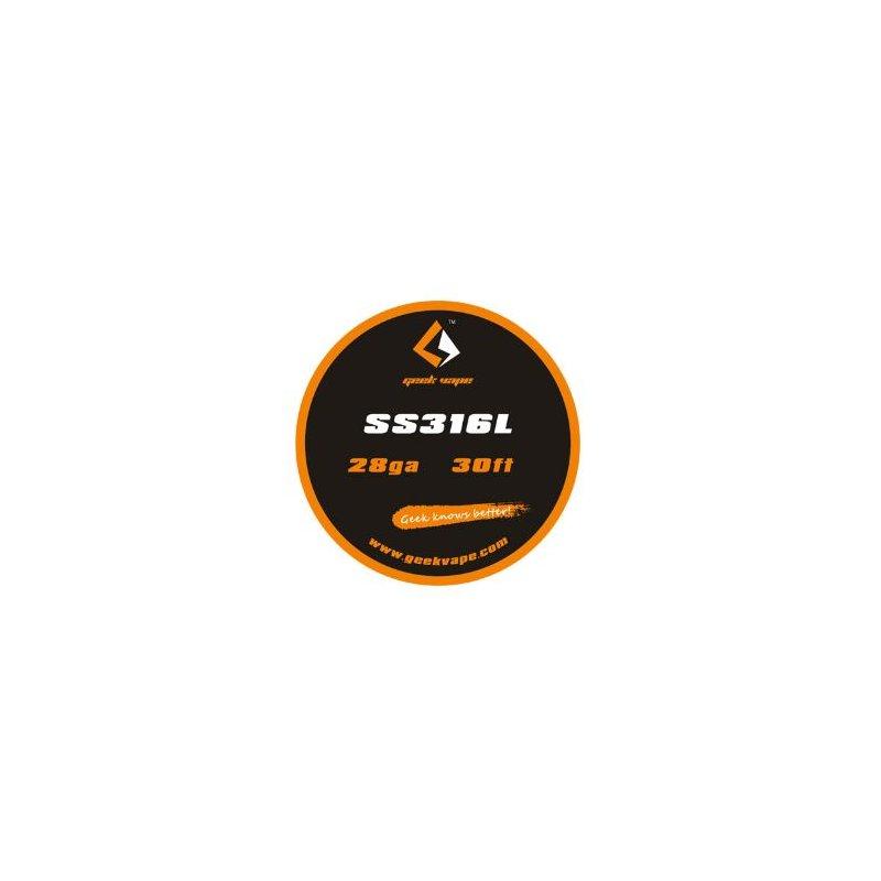 GeekVape SS316L Draht 10m 0,32mm 28 AWG, ichdampfe E-Zigaretten und E